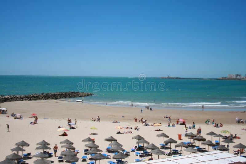 Ισπανική παραλία στο καλοκαίρι στοκ φωτογραφία
