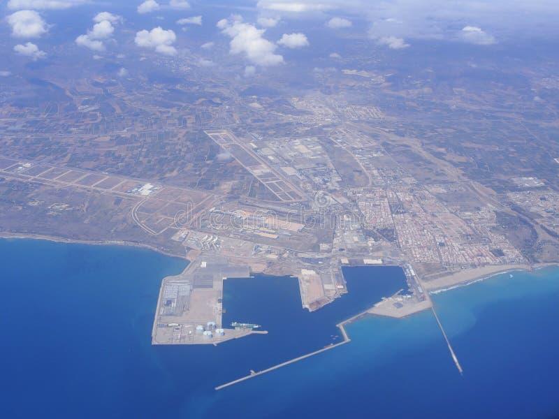 Ισπανική πόλης εναέρια άποψη στοκ φωτογραφίες