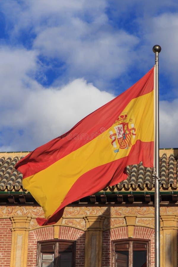 Ισπανική σημαία στοκ φωτογραφία
