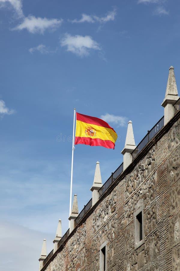 Ισπανικό πέταγμα σημαιών Στοκ Εικόνες