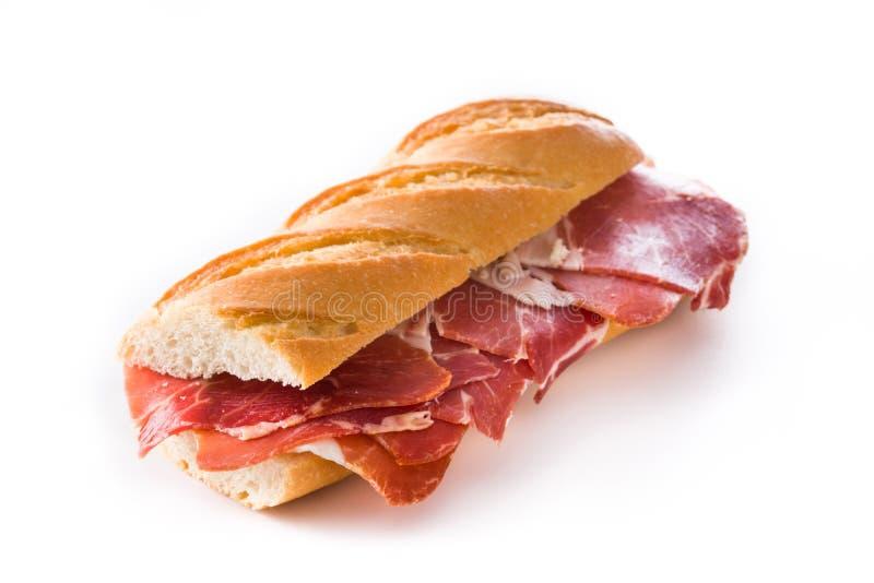 Ισπανικό σάντουιτς ζαμπόν serrano στοκ φωτογραφία