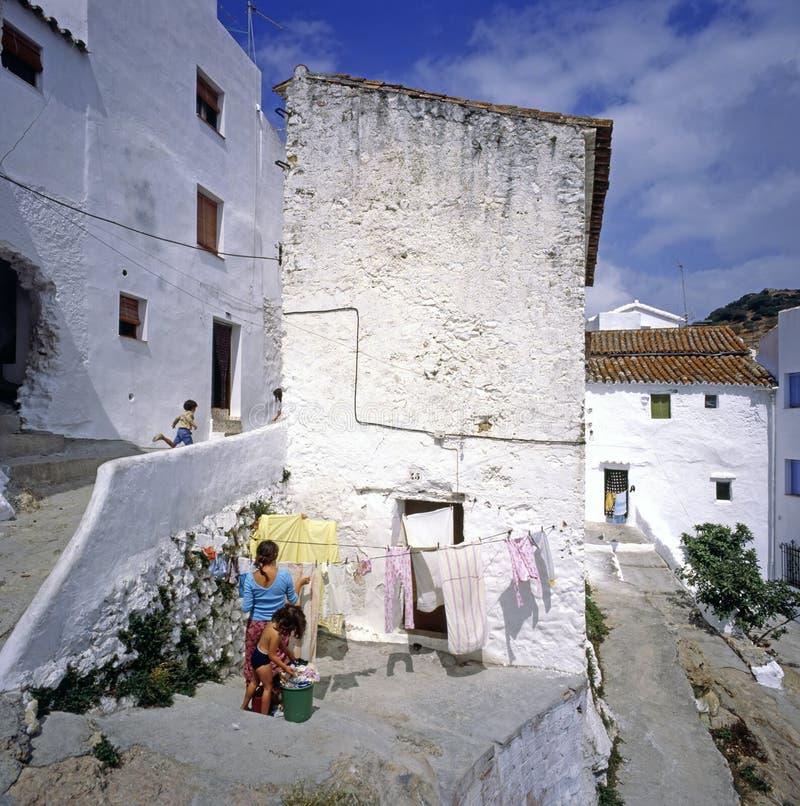 ισπανικό χωριό στοκ εικόνα