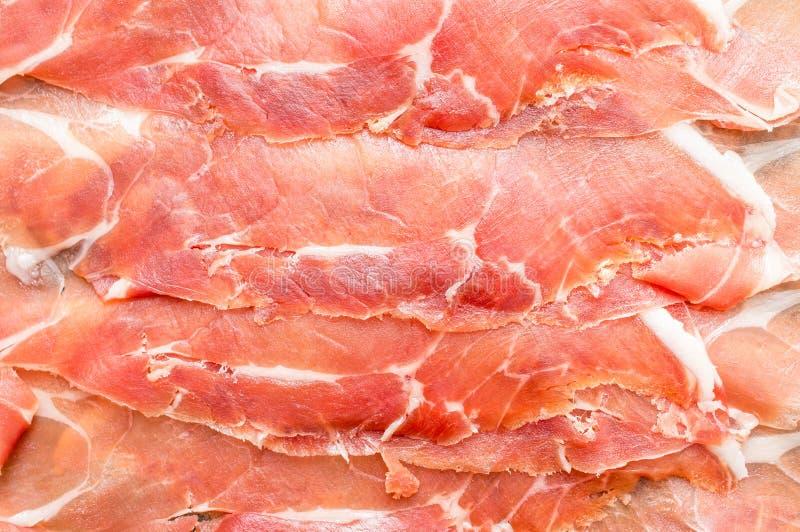 Ισπανικό jamon, ξηρός-θεραπευμένο ζαμπόν στοκ φωτογραφία με δικαίωμα ελεύθερης χρήσης