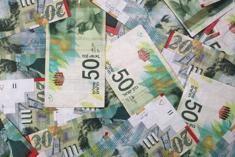 Ισραηλινά νέα τραπεζογραμμάτια Shekel στοκ εικόνα με δικαίωμα ελεύθερης χρήσης