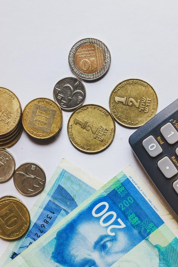 ισραηλινά Shekel Τραπεζογραμμάτια και νομίσματα στοκ φωτογραφίες με δικαίωμα ελεύθερης χρήσης