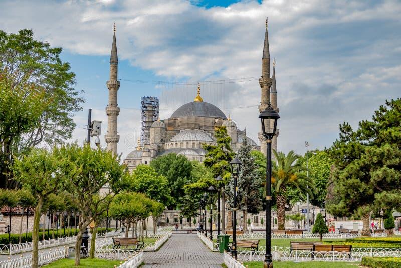 Ιστανμπούλ, Τουρκία Ιούνιος, 16ος, 2019 Το μπλε μουσουλμανικό τέμενος στο sultanahmet στη Ιστανμπούλ στοκ εικόνες