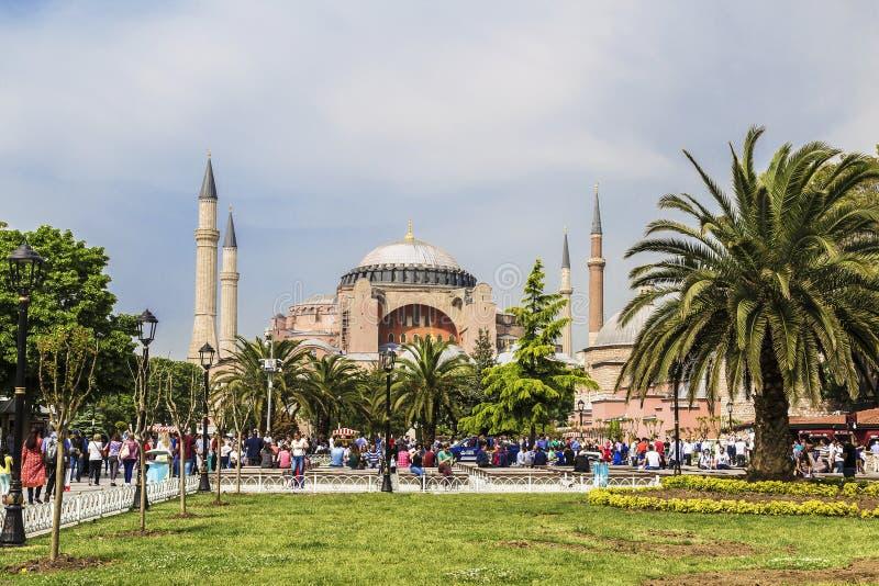 Ιστανμπούλ, άποψη της περιοχής Sultanahmet μια ηλιόλουστη θερινή ημέρα στοκ εικόνα