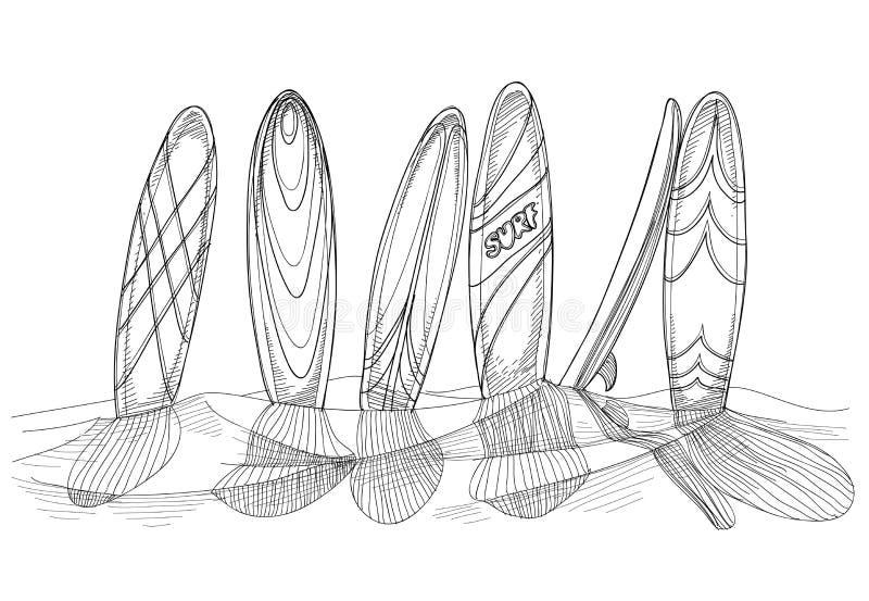 ιστιοσανίδες διανυσματική απεικόνιση
