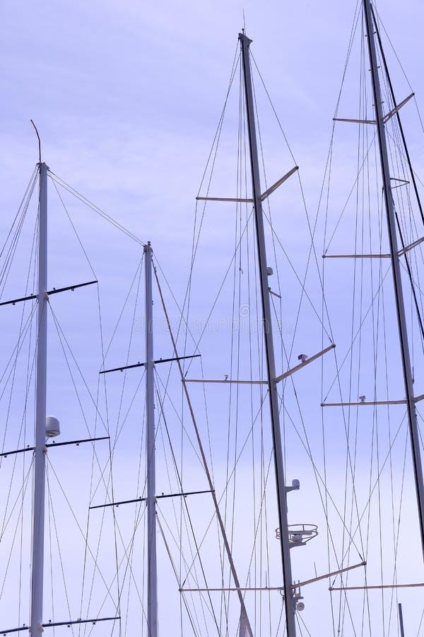 Ιστοί των σκαφών και στοκ φωτογραφίες