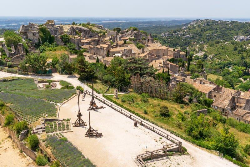 Ιστορία και πολιτισμός στην baux-de-Προβηγκία στη Γαλλία στοκ εικόνα
