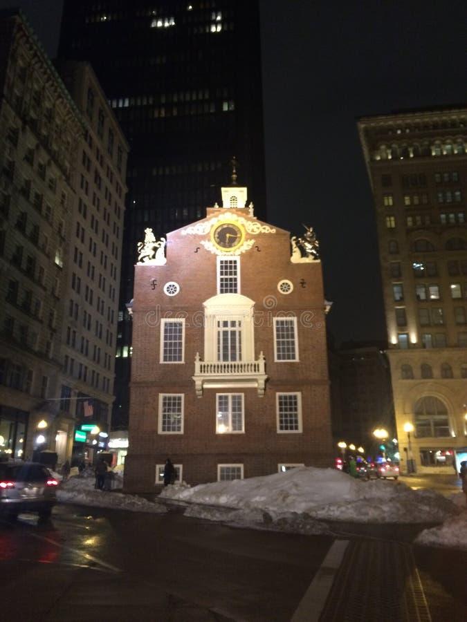 Ιστορία της Βοστώνης αρχική στοκ εικόνες