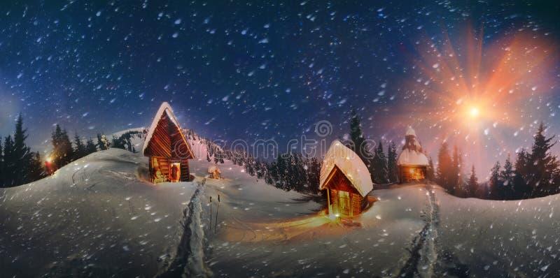 Ιστορία Χριστουγέννων για τους ορειβάτες) ελεύθερη απεικόνιση δικαιώματος