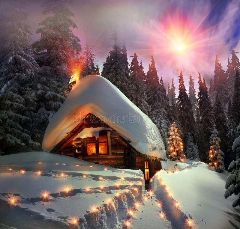 Ιστορία Χριστουγέννων για τους ορειβάτες στοκ φωτογραφίες με δικαίωμα ελεύθερης χρήσης