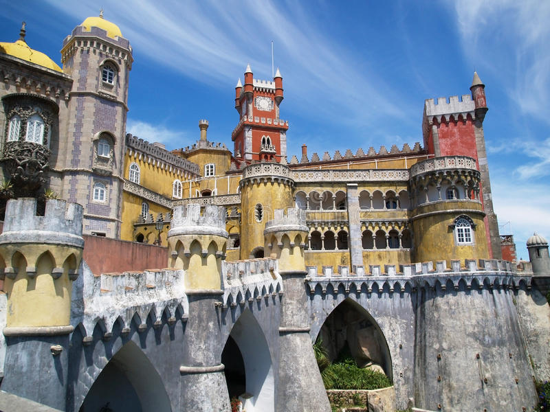 ιστορία sintra παλατιών νεράιδω στοκ φωτογραφία με δικαίωμα ελεύθερης χρήσης