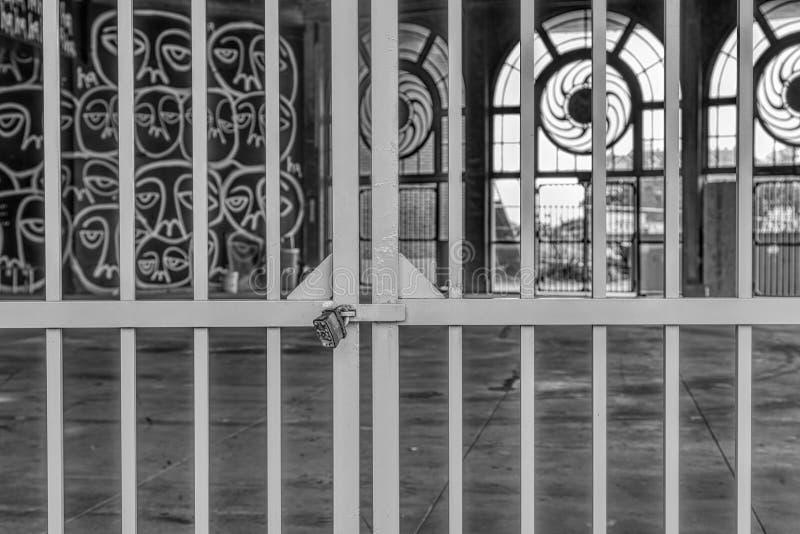 Ιστορικά ιπποδρόμιο πάρκων Asbury και σπίτι χαρτοπαικτικών λεσχών στο Τζέρσεϋ Sho στοκ εικόνα