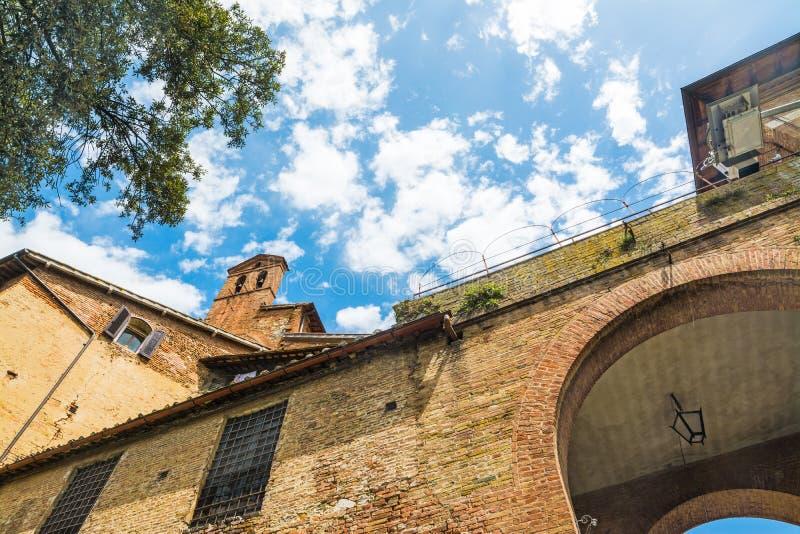 Ιστορικά κτήρια στην Τοσκάνη στοκ εικόνα