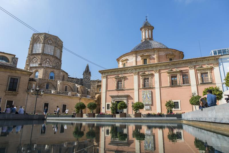 Ιστορικά κτήρια στο κέντρο Valancia, Ισπανία στοκ φωτογραφίες με δικαίωμα ελεύθερης χρήσης