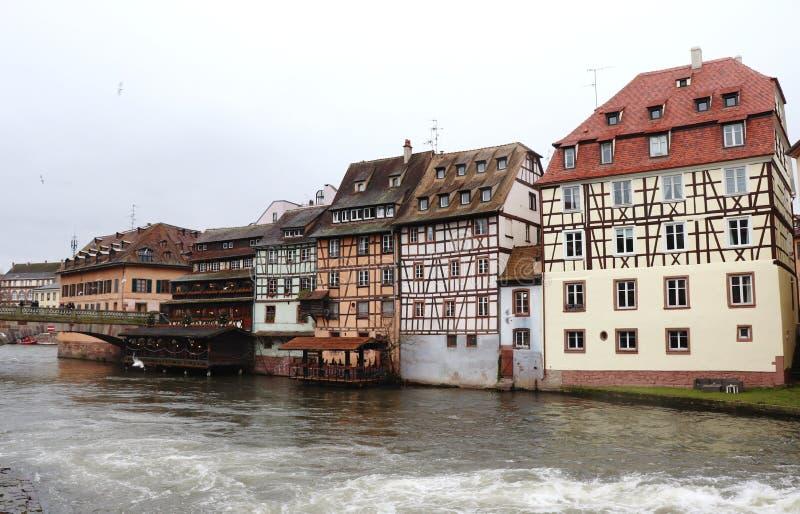Ιστορικά κτήρια στο Στρασβούργο, Γαλλία στοκ εικόνες