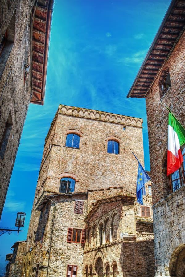 Ιστορικά κτήρια στο SAN Gimignano στοκ εικόνες με δικαίωμα ελεύθερης χρήσης