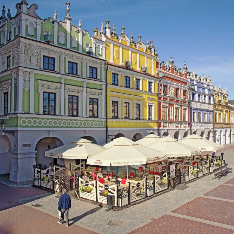 Ιστορικά κτήρια της παλαιάς πόλης στην ιστορική μεγάλη αγορά στοκ εικόνες