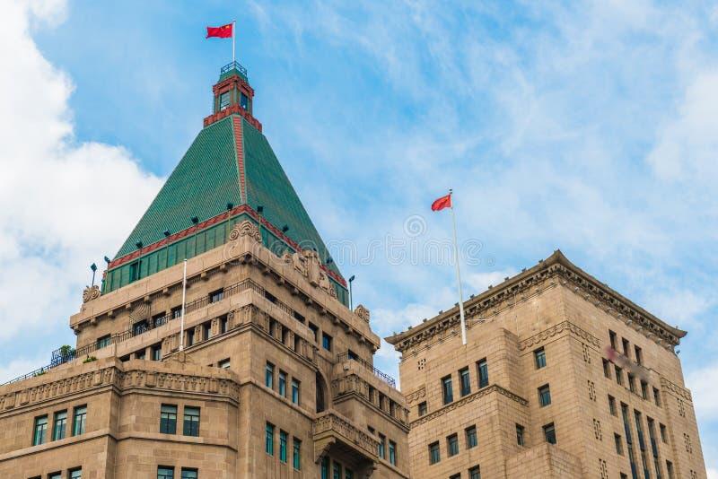 Ιστορικά κτήρια φραγμάτων της Σαγκάη, Κίνα στοκ εικόνες με δικαίωμα ελεύθερης χρήσης