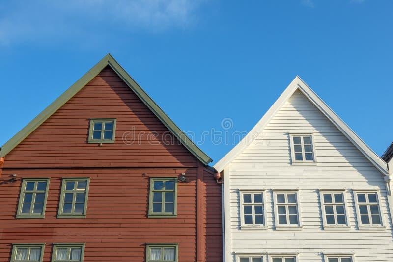 Ιστορικά κτήρια Bryggen στην πόλη του Μπέργκεν, Νορβηγία στοκ εικόνα με δικαίωμα ελεύθερης χρήσης