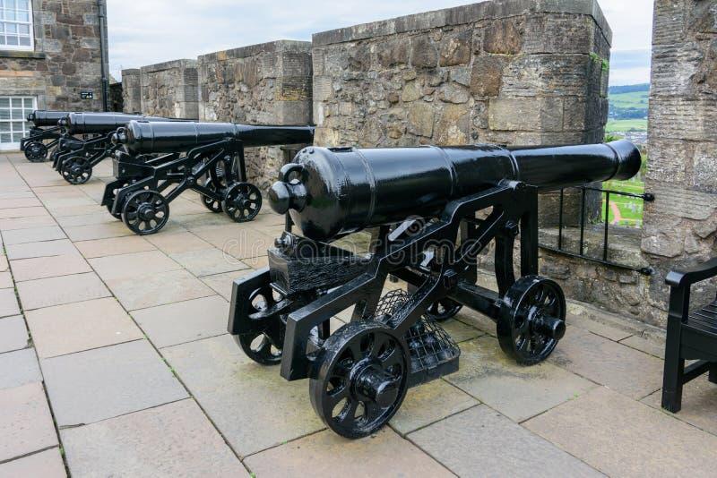Ιστορικά πυροβόλα σε Stirling Castle, Σκωτία στοκ εικόνες