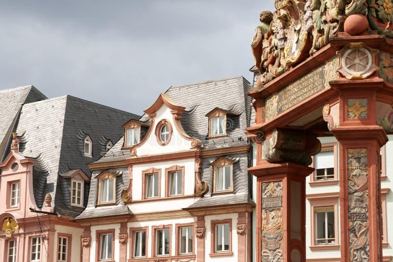 ιστορικά σπίτια Μάιντς στοκ εικόνα