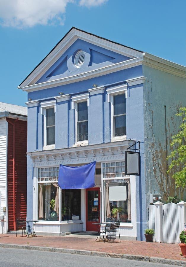 Ιστορικά σπίτι και εστιατόριο σε Smyrna Ντελαγουέρ στοκ φωτογραφία με δικαίωμα ελεύθερης χρήσης