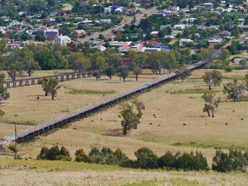 Ιστορικά briges σε Gundagai στην Αυστραλία στοκ φωτογραφίες