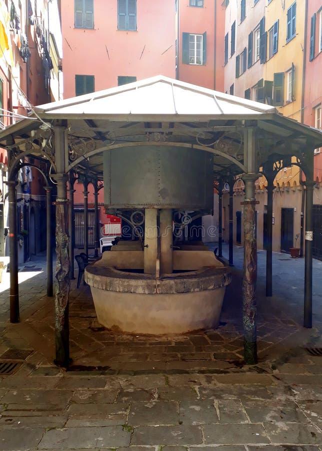 Ιστορικά washhouses στη Γένοβα στοκ εικόνα