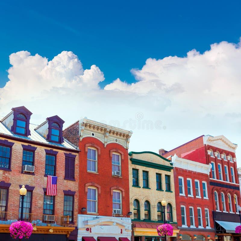 Ιστορικές προσόψεις Ουάσιγκτον περιοχής της Τζωρτζτάουν στοκ εικόνα με δικαίωμα ελεύθερης χρήσης