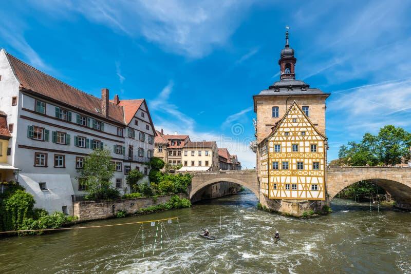 Ιστορική αίθουσα πόλεων της Βαμβέργης, Γερμανία στοκ εικόνες