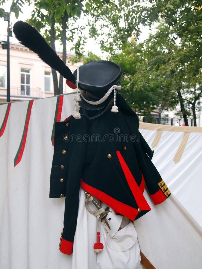 Ιστορική αναδημιουργία του στρατιωτικού στρατόπεδου των ουσάρων στοκ φωτογραφία με δικαίωμα ελεύθερης χρήσης