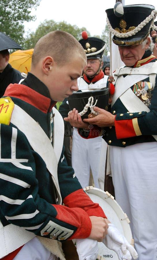 Ιστορική αναπαράσταση Borodino 2012 στοκ εικόνα με δικαίωμα ελεύθερης χρήσης