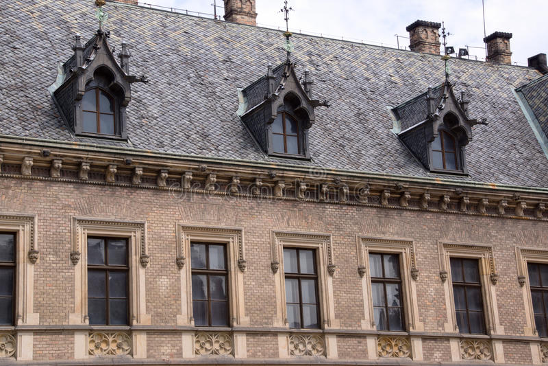 Ιστορική αρχιτεκτονική στην πόλη Πράγα στοκ εικόνες