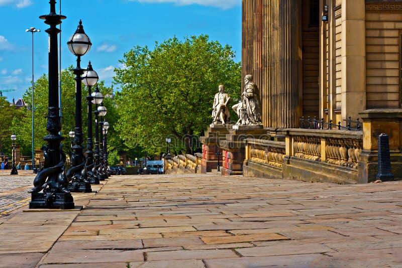 Ιστορική αρχιτεκτονική στο William καφετί ST Λίβερπουλ UK στοκ φωτογραφίες με δικαίωμα ελεύθερης χρήσης