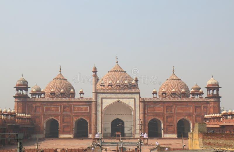 Ιστορική αρχιτεκτονική Agra Ινδία μουσουλμανικών τεμενών Masjid Jama στοκ φωτογραφία με δικαίωμα ελεύθερης χρήσης