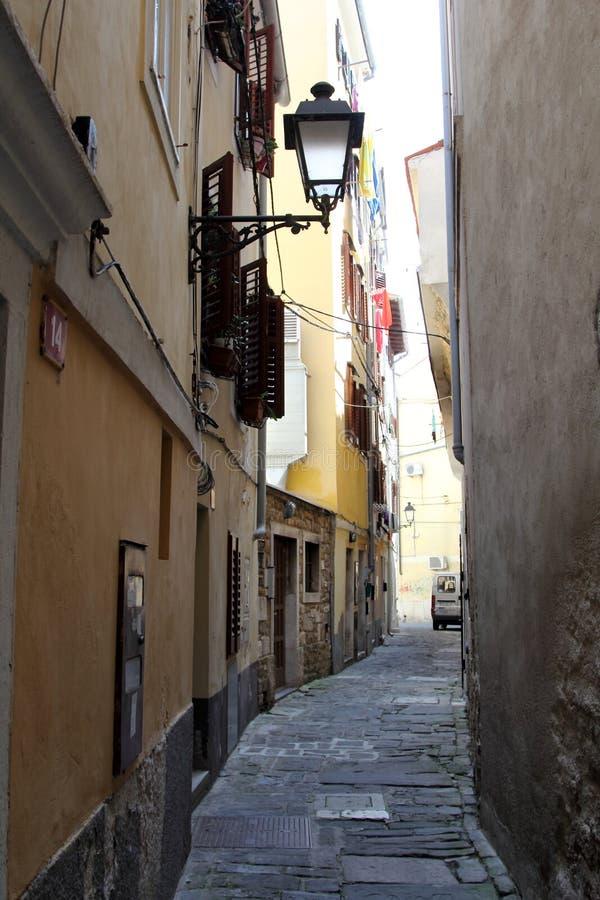 Ιστορική αρχιτεκτονική Piran, Σλοβενία στοκ φωτογραφία με δικαίωμα ελεύθερης χρήσης
