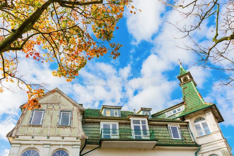 Ιστορική βίλα σε Swinoujscie, Πολωνία στοκ εικόνες
