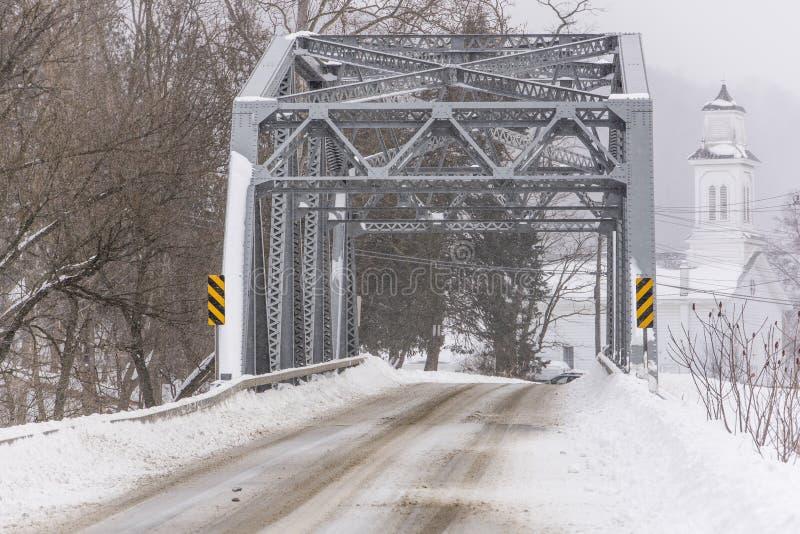 Ιστορική γέφυρα ζευκτόντων δυτικού κολπίσκου - Νέα Υόρκη στοκ φωτογραφίες