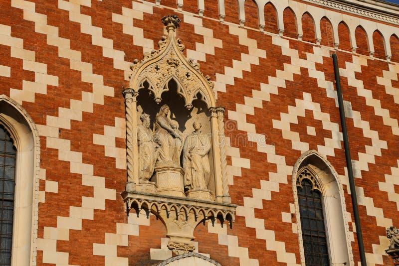 Ιστορική εκκλησία Carmini στην ιστορική πόλη του Βιτσέντσα στην Ιταλία στοκ εικόνες