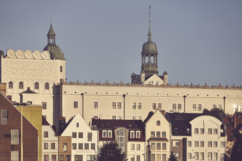 Ιστορική και σύγχρονη αρχιτεκτονική πόλεων Szczecin, Πολωνία στοκ εικόνα με δικαίωμα ελεύθερης χρήσης