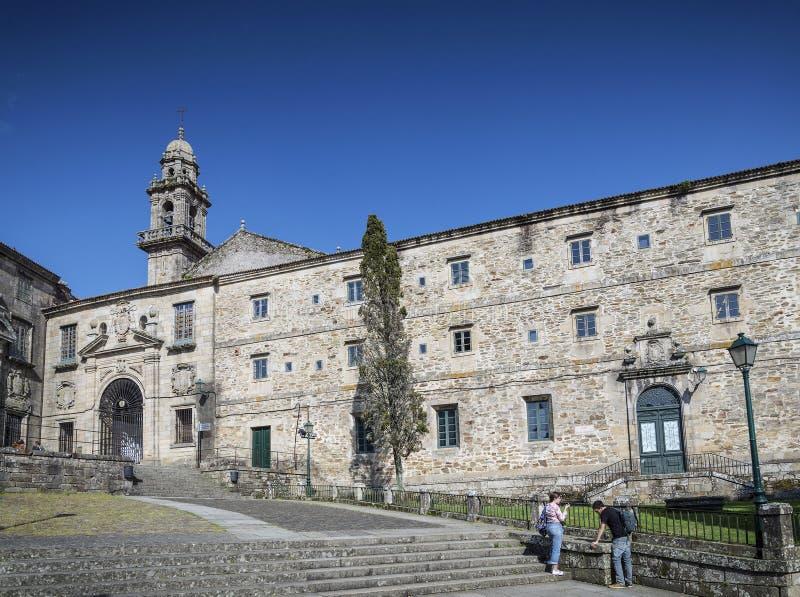 Ιστορική παλαιά πόλης περιοχή του Σαντιάγο de compostela Ισπανία στοκ φωτογραφία με δικαίωμα ελεύθερης χρήσης