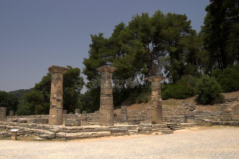 ιστορική περιοχή της Ολυμπία στοκ εικόνες με δικαίωμα ελεύθερης χρήσης