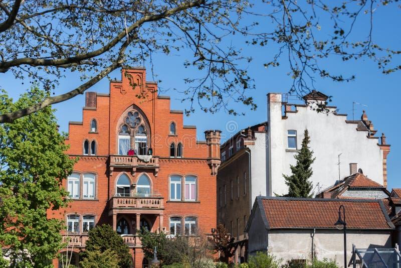 Ιστορική πόλη bensheim στο hesse Γερμανία στοκ φωτογραφία με δικαίωμα ελεύθερης χρήσης