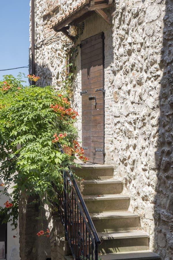 Ιστορική πόλη Lugnano σε Teverina Ουμβρία, Ιταλία στοκ εικόνα με δικαίωμα ελεύθερης χρήσης