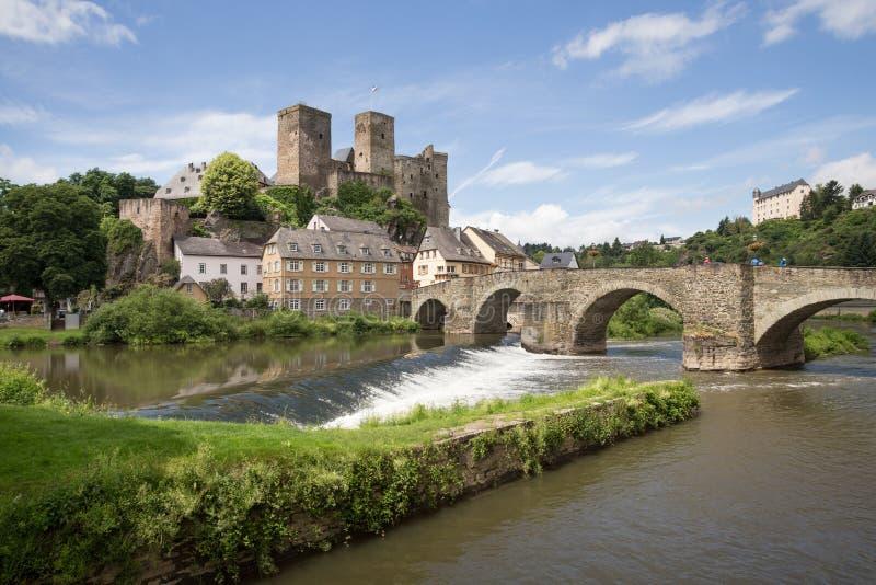 Ιστορική πόλη Hesse Γερμανία Runkel στοκ εικόνες