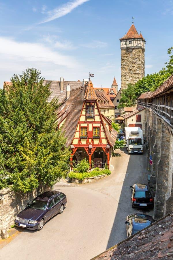 Ιστορική πόλη Rothenburg ob der Tauber στοκ φωτογραφίες