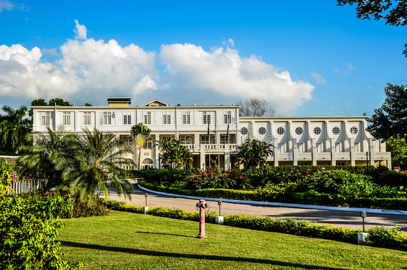 ιστορικοί βασιλιάδες της Τζαμάικας σπιτιών στοκ εικόνες